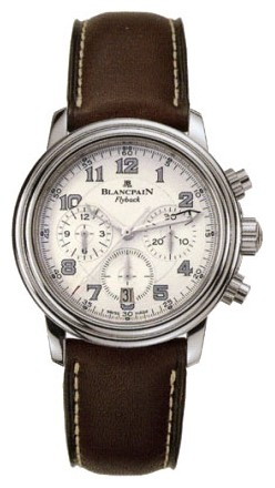 Blancpain Leman Flyback Chrono (Steel / White / Leather)
