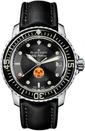 Blancpain Sport Fifty Fathoms Ultra Slim Automatic (SS / Black / Fabric)