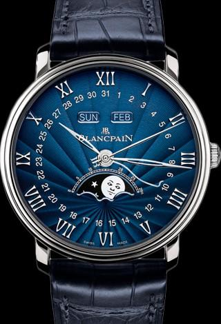 Blancpain Villeret Moon Phase Complete Calendar 40mm 6654-1529-55B
