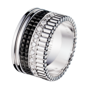 Boucheron Quatre Black Edition Large Ring With Diamonds