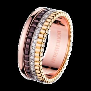 Boucheron Quatre Classique Small Ring Diamonds