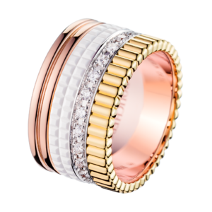 Boucheron Quatre White Edition Large Ring With Diamonds