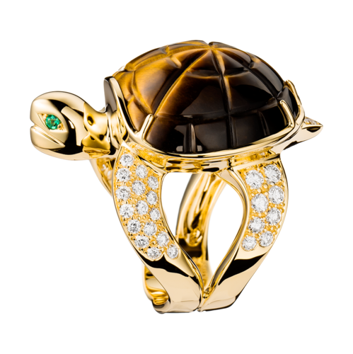 Boucheron Turtle Tiger's Eye Ring