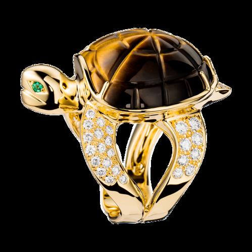 Boucheron Turtle Tiger's Eye Ring