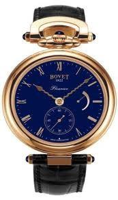 Bovet Fleurier 43 Amadeo (RG / Blue Polished Enamel / Leather Strap) AF43017