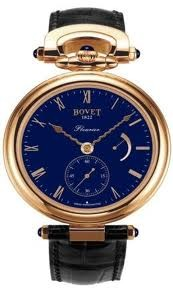 Bovet Fleurier 43 Amadeo (RG / Blue Polished Enamel / Leather Strap) AF43017