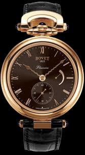 Bovet Fleurier 43 Amadeo (RG / Brown Circular Brushed / Leather Strap) AF43005