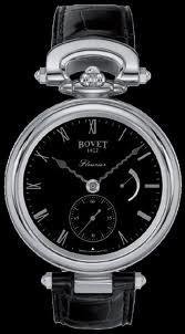 Bovet Fleurier 43 Amadeo Steel (SS / Black / Leather) AS43002