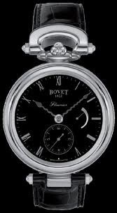 Bovet Fleurier 43 Amadeo Steel (SS / Black / Leather) AS43002