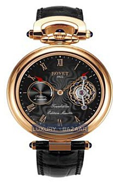 Bovet Fleurier 44 Tourbillon 7-days Amadeo Limited Edition (RG / Black guilloche / Leather) AIT7005