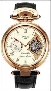 Bovet Fleurier 44 Tourbillon 7-days Amadeo Limited Edition (RG / White enamel / Leather) AIT7003