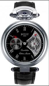 Bovet Fleurier 44 Tourbillon 7-days Amadeo Limited Edition (WG / Black enamel / Leather) AIT7004