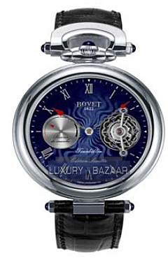 Bovet Fleurier 44 Tourbillon 7-days Amadeo Limited Edition (WG / Blue guilloche / Leather) AIT7006