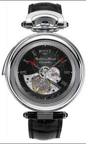 Bovet Fleurier 46 Minute Repeater Tourbillon Amadeo (WG / Black guilloche / Leather) AIRM010