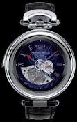 Bovet Fleurier 46 Minute Repeater Tourbillon Amadeo (WG / Blue guilloche / Leather) AIRM006