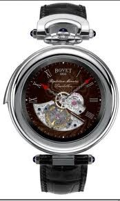 Bovet Fleurier 46 Minute Repeater Tourbillon Amadeo (WG / Brown guilloche / Leather) AIRM004