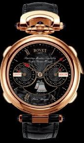 Bovet Fleurier 46 Minute Repeater Tourbillon Notre Dame Amadeo (RG / Black guilloche / Leather) AR3F001