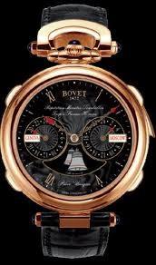 Bovet Fleurier 46 Minute Repeater Tourbillon Notre Dame Amadeo (RG / Black guilloche / Leather) AR3F001