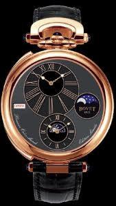 Bovet Fleurier 46 Orbis Mundi Moon Phase Amadeo (RG / Black Enamel-Guilloche / Leather) AFOMP001