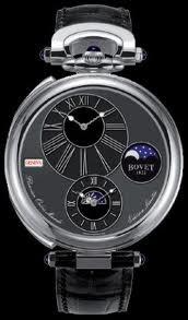 Bovet Fleurier 46 Orbis Mundi Moon Phase Amadeo (WG / Black Enamel-Guilloche / Leather) AFOMP002