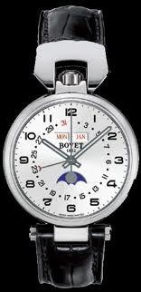 Bovet Sportster 36 Triple Date Moon Phase (SS / Silver Opalin / Leather) QA0066