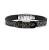 Мужской браслет Leather bracelet and diamonds Baraka BR231132N