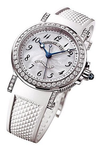 Breguet Marine Automatic Ladies (WG-Diamonds / MOP / Rubber) 8818BB/59/564 DD00