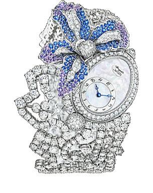 Breguet High Jewelry (WG-Diamonds-Blue Purple Gems / MOP) GJE16BB20.8924DS1