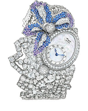 Breguet High Jewelry (WG-Diamonds-Blue Purple Gems / MOP) GJE16BB20.8924DS1