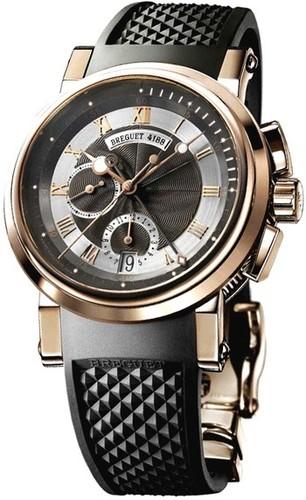 Breguet Marine Chronograph 5827 (Rose Gold / Rubber) 5827BR/Z2/5ZU