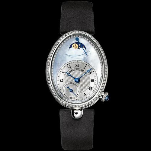 Breguet Reine de Naples (WG-128 Diamonds / Blue MOP / Strap) 8908BB/V2/864 D00D