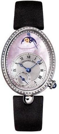 Breguet Reine de Naples (WG-128 Diamonds / Pink MOP / Strap) 8908BB/W2/864 D00D