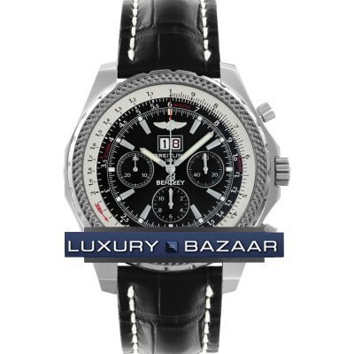 Breitling Bentley 6.75 (SS / Black / Croc Leather)