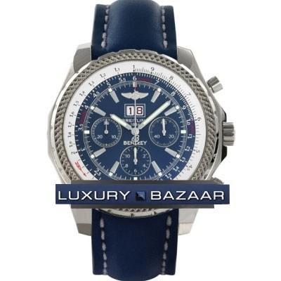 Breitling Bentley 6.75 (SS / Blue / Leather)