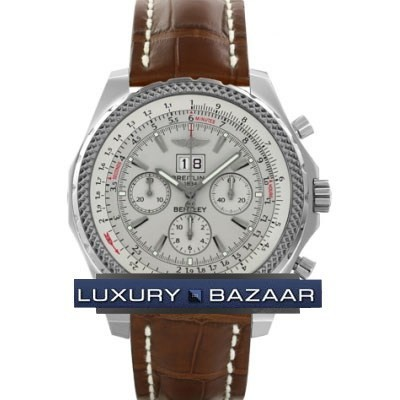 Breitling Bentley 6.75 (SS / Silver / Croc Leather)