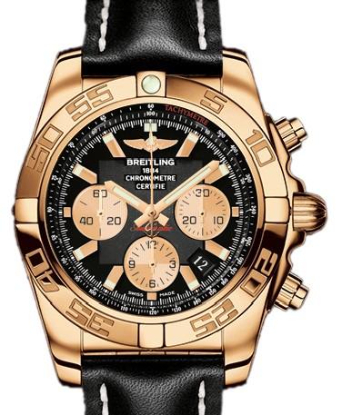 Breitling Chronomat B01 (RG / Black / Rubber Strap)