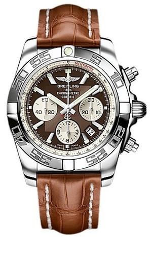 Breitling Chronomat B01 (SS / Brown / Croc Leather )