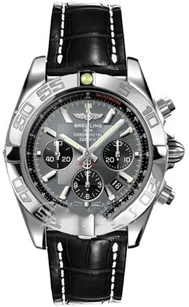 Breitling Chronomat B01 (SS / Grey / Croc Leather )