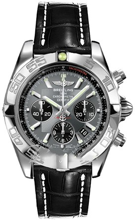 Breitling Chronomat B01 (SS / Grey / Croc Leather )
