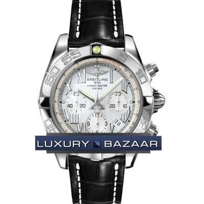 Breitling Chronomat B01 (SS / MOP / Croc Leather )
