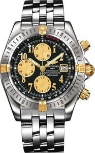 Breitling Chronomat Evolution b1335611 / b723-ss (SS- YG / Black / SS)