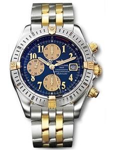 Breitling Chronomat Evolution b1335611 / c648-tt (SS- YG / Blue / SS-YG)
