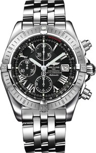 Breitling Chronomat Evolution a1335611 / b898-ss (SS / Black / SS )