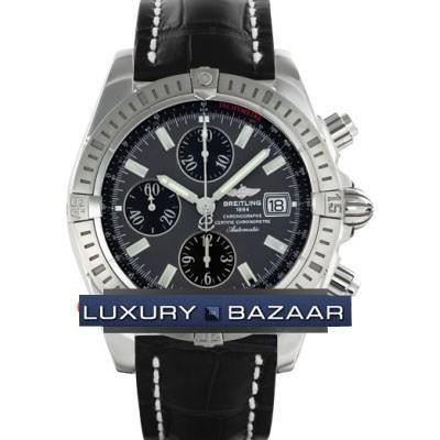 Breitling Chronomat Evolution (SS / Grey / Croc Leather )
