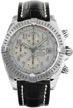 Breitling Chronomat Evolution (SS / Silver / Croc Leather )