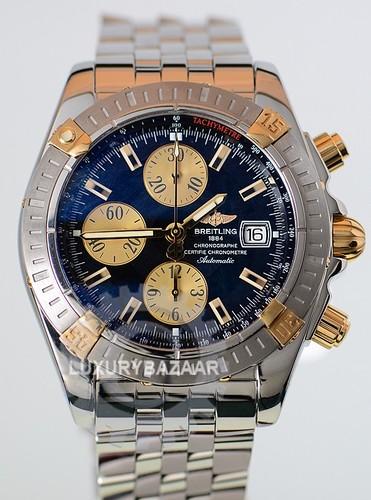 Breitling Chronomat Evolution (YG-SS / Black-Gold / SS Bracelet)
