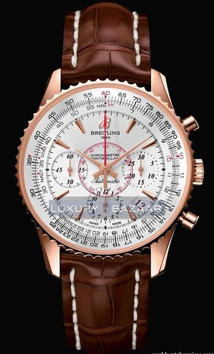 Breitling Montbrillant 01 Limited Edition (RG / Silver / Leather Strap)