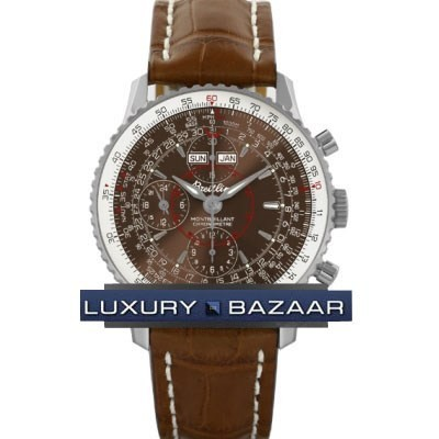Breitling Montbrillant Datora (SS / Bronze / Leather)