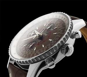 Breitling Montbrillant Datora a2133012 / q509-2CT (SS / Bronze / Leather)