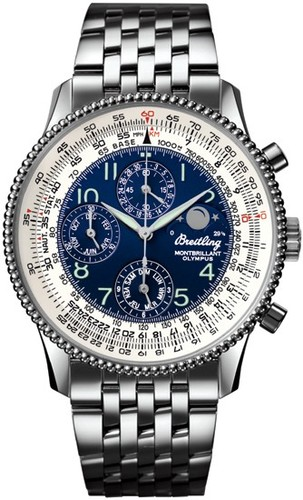 Breitling Montbrillant Olympus (SS / Blue / SS )